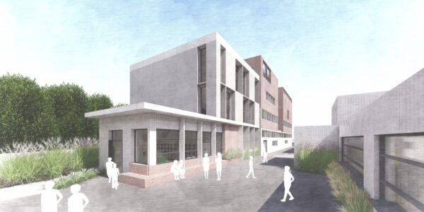 OBFA design to extend Colaiste Eoin's previous building designed by Grafton Architects.