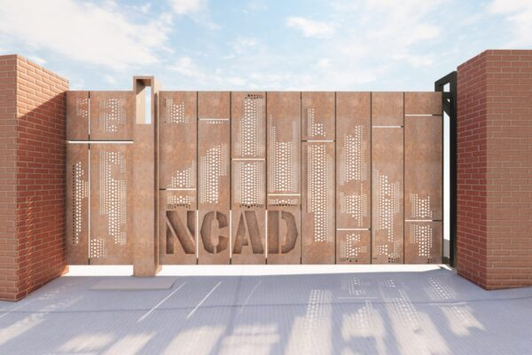 OBFA Architects Design for West Wall Vehicular Gate NCAD 2021